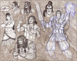 Malazan sketchdump by zorm