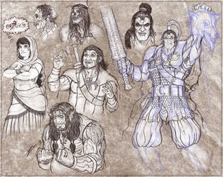 Malazan sketchdump by zorm