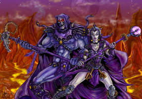 Lyn and Skeletor Colored by zorm