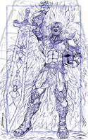 Fright Knight BW by zorm
