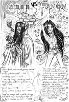 Canon Vs Fanon Snape by zorm