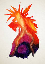 Red XIII, the canyon's guardian by Renaardeau