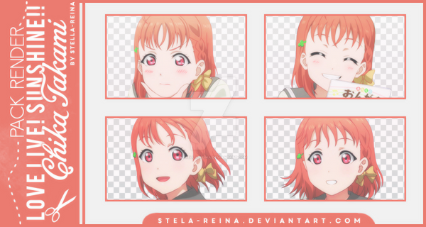 [Love Live! Sunshine!! Render] Chika Takami by stella-reina
