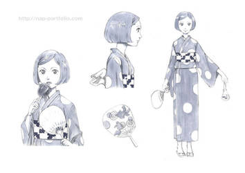 Character sketch - Yukata Girl
