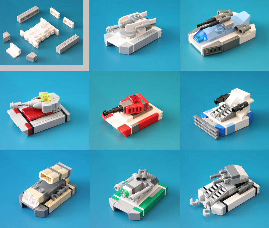 Lego Microscale Tanks Compilation By Multihawk On Deviantart