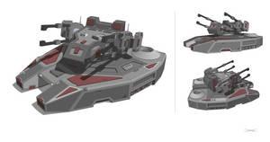 'Nemesis' AA Hover Battle Tank