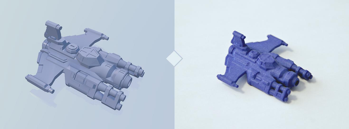 'Snubfin' Render and 3d print by multihawk