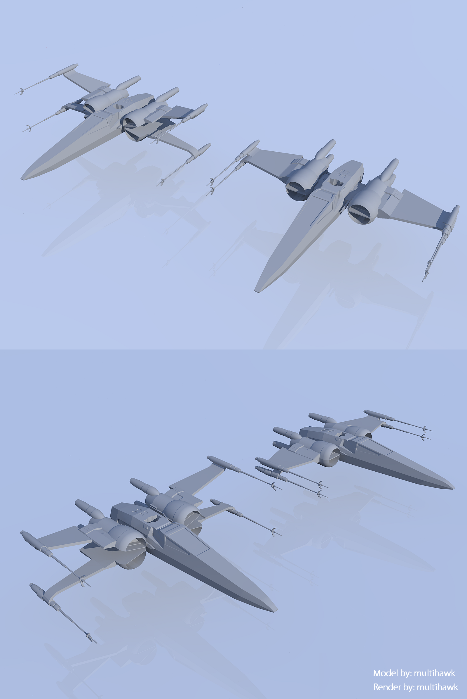 Star Wars The Force Awakens X-wing by multihawk on DeviantArt