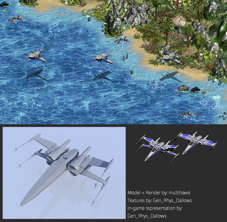 Star Wars The Force Awakens X-wing In-game by multihawk