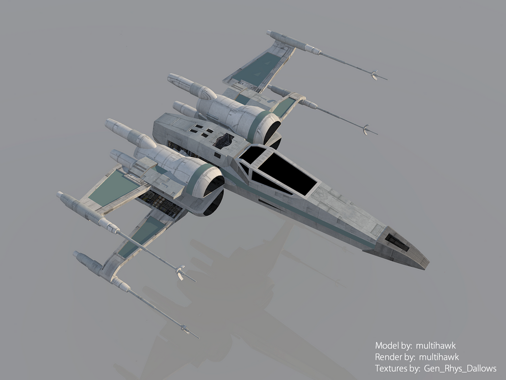 Star Wars The Force Awakens T-70 X-wing Render by ...