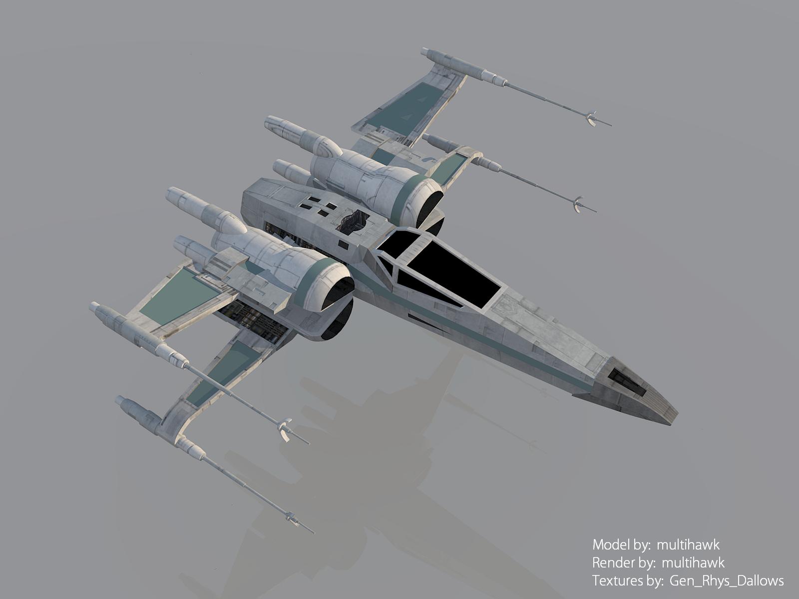 Star Wars The Force Awakens T 70 X Wing Render By Multihawk On Deviantart
