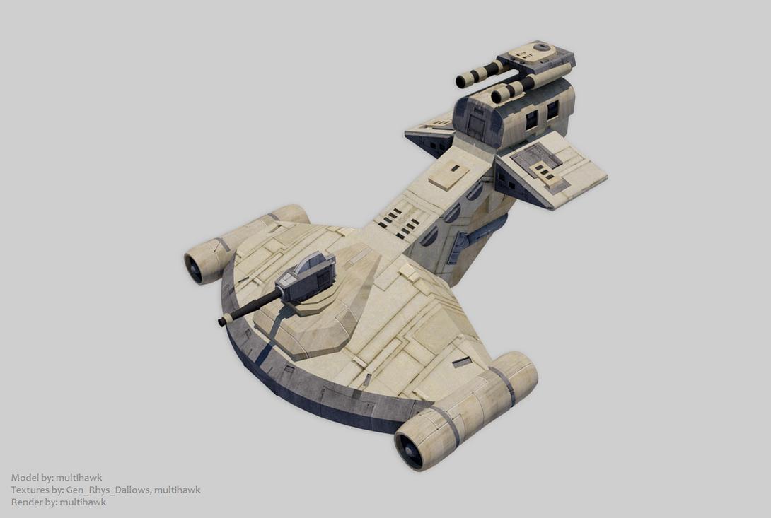 Ostracoda-class Gunboat (based on comic design) by multihawk