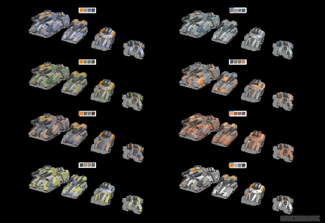 Sci-fi Vehicles + Color Schemes by multihawk