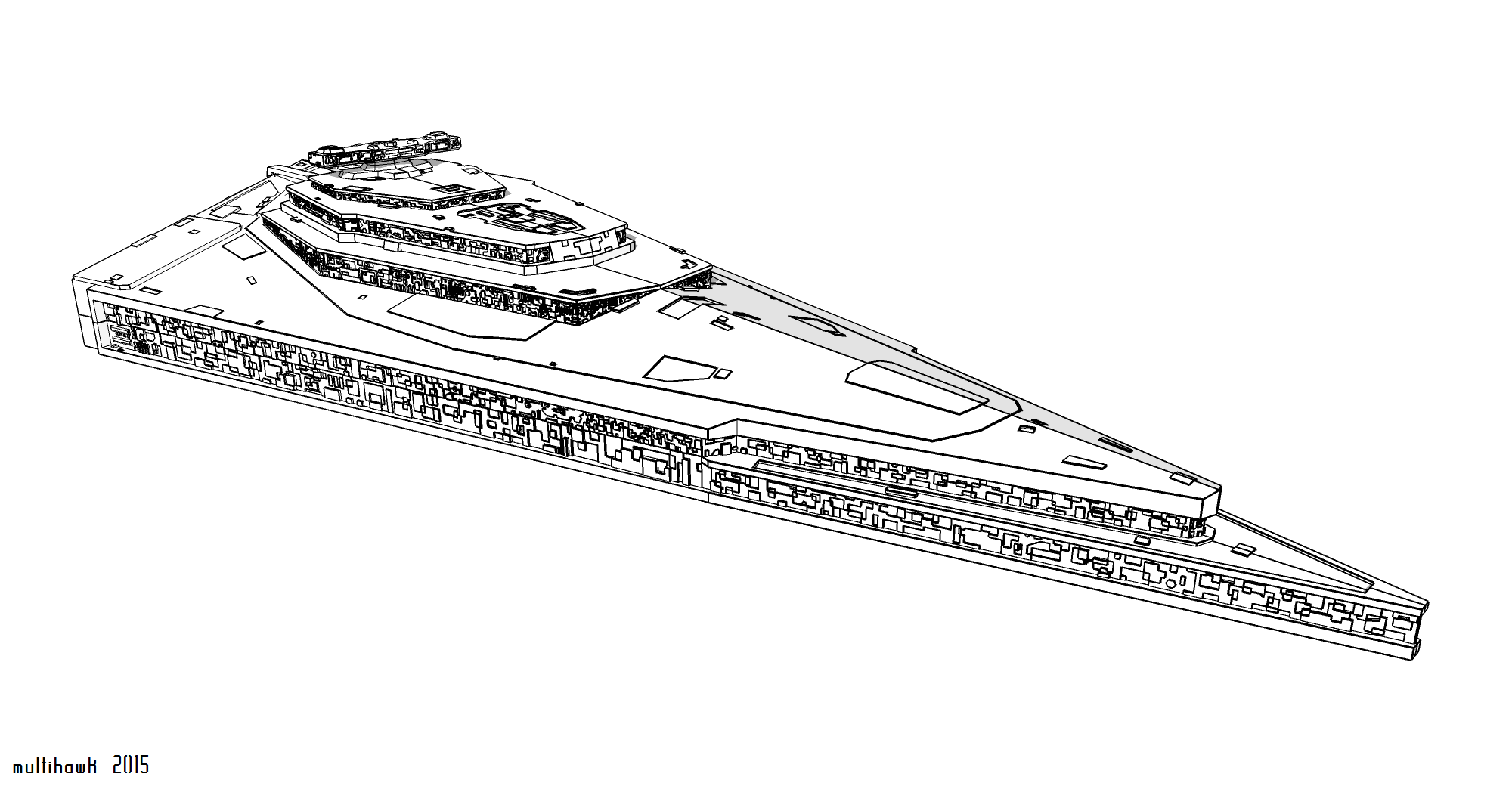 First Order Star Destroyer MODELED BEFORE SEPT 4 by