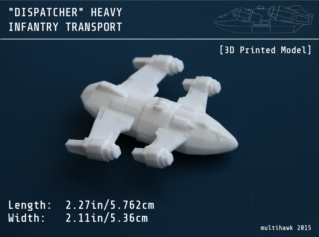 'Dispatcher' Heavy Transport 3d print by multihawk