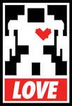 Lovebot - Obey Sticker