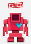 Lovebot Icon Sticker (Red)