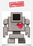 Lovebot Icon Sticker (Grey)