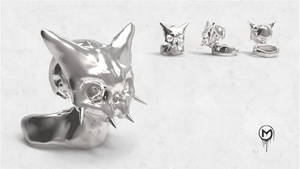 Pikachu Ring Silver