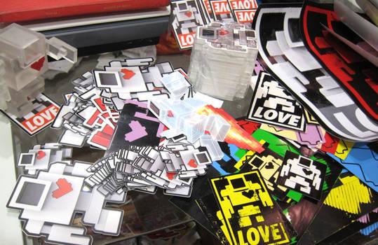 Lovebot Stickers
