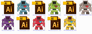 Lovebot First Pixel Stickers
