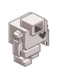 New Lovebot Pixel Sprite Sticker