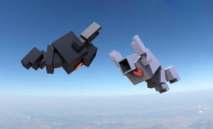 Lovebots in Free Fall