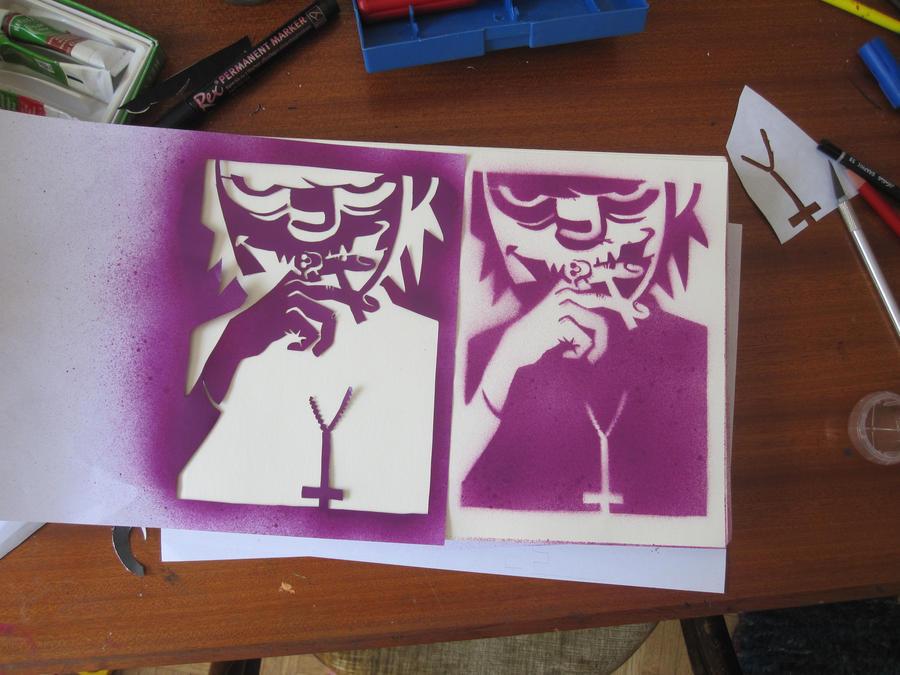 Murdoc Niccals: Stencil by BikoToughenUp