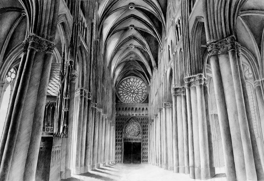 Gothic Cathedral Notre Dame 5070 By Korneliamierzwa