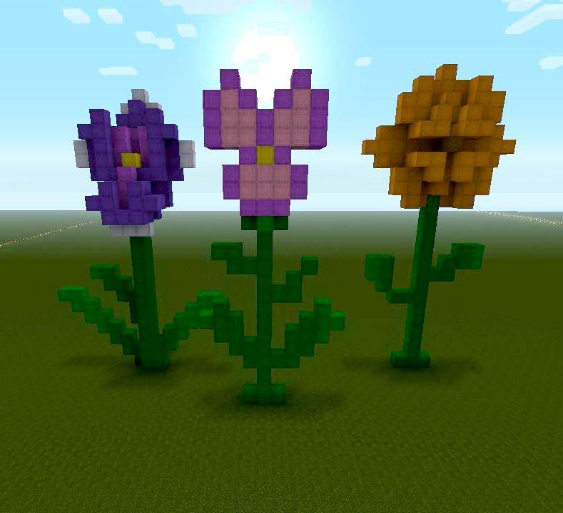 Flower Build Minecraft