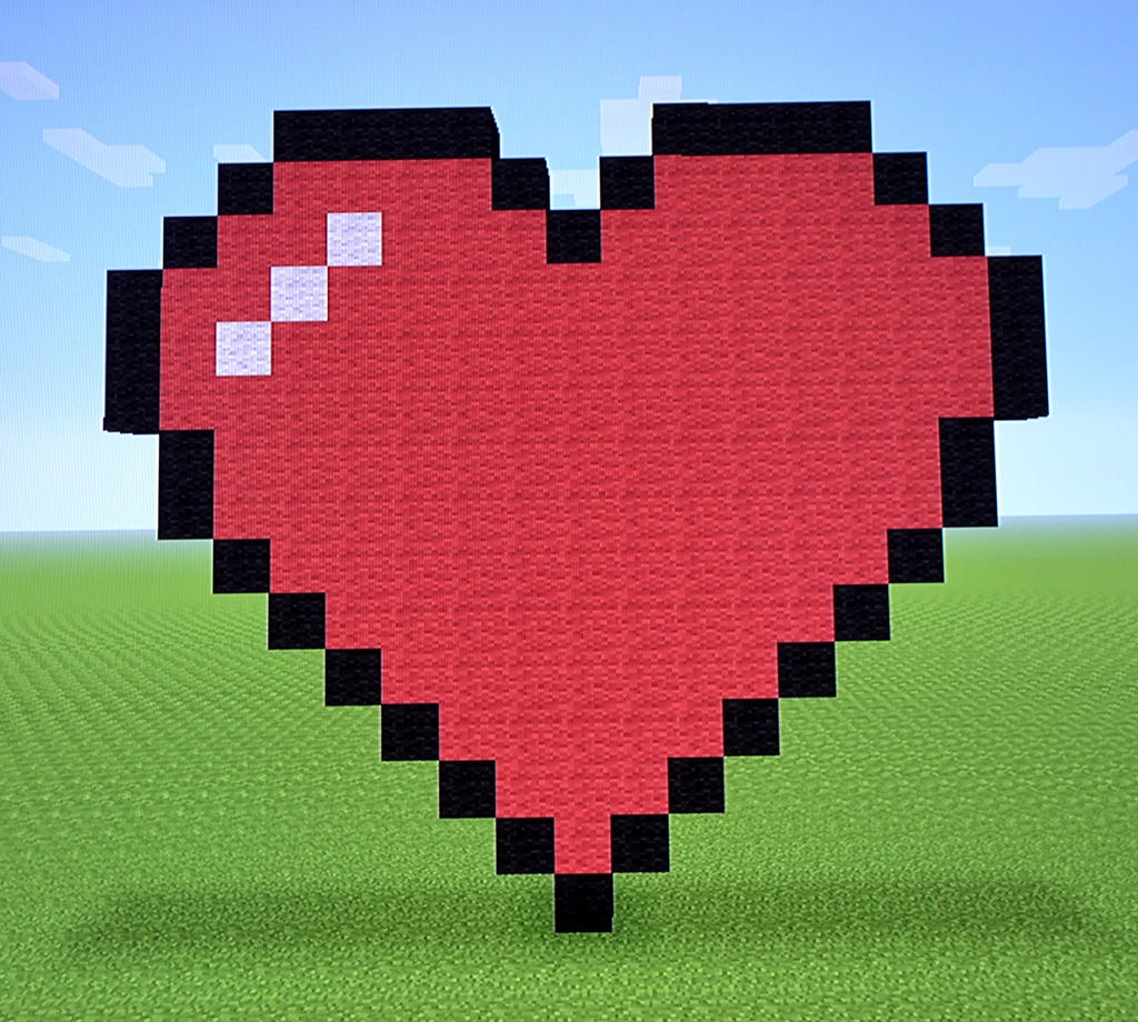 Classic heart minecraft by bexrani on deviantart for How to make a good painting