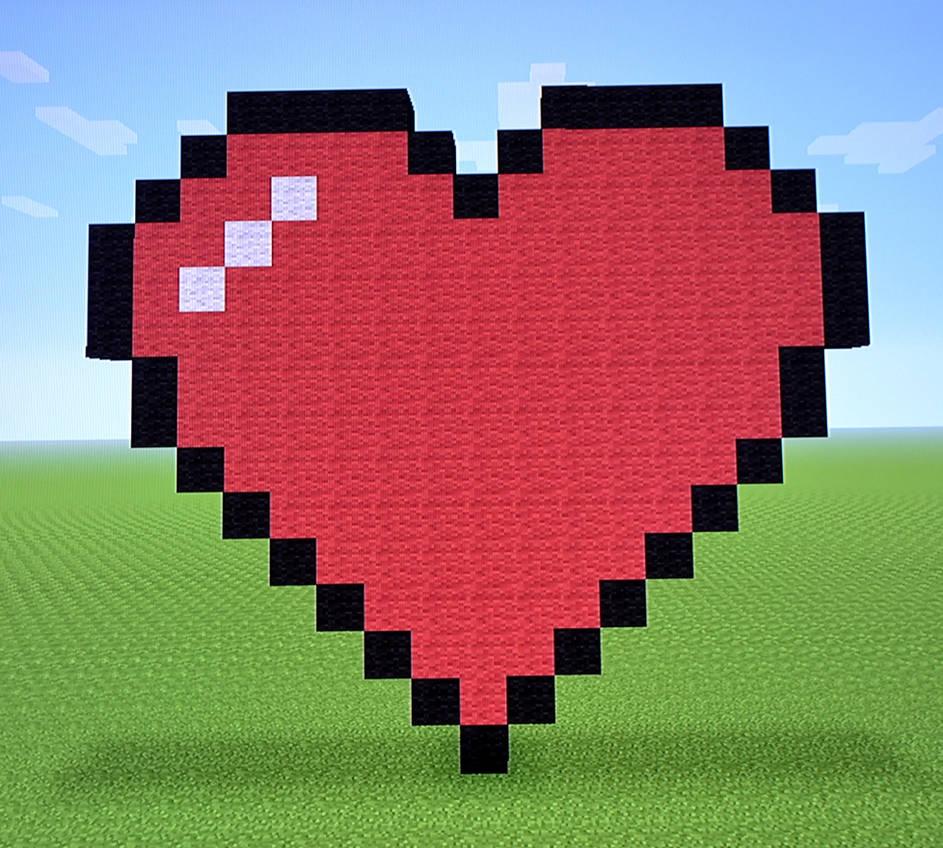 майнкрафт мод сердечки #1