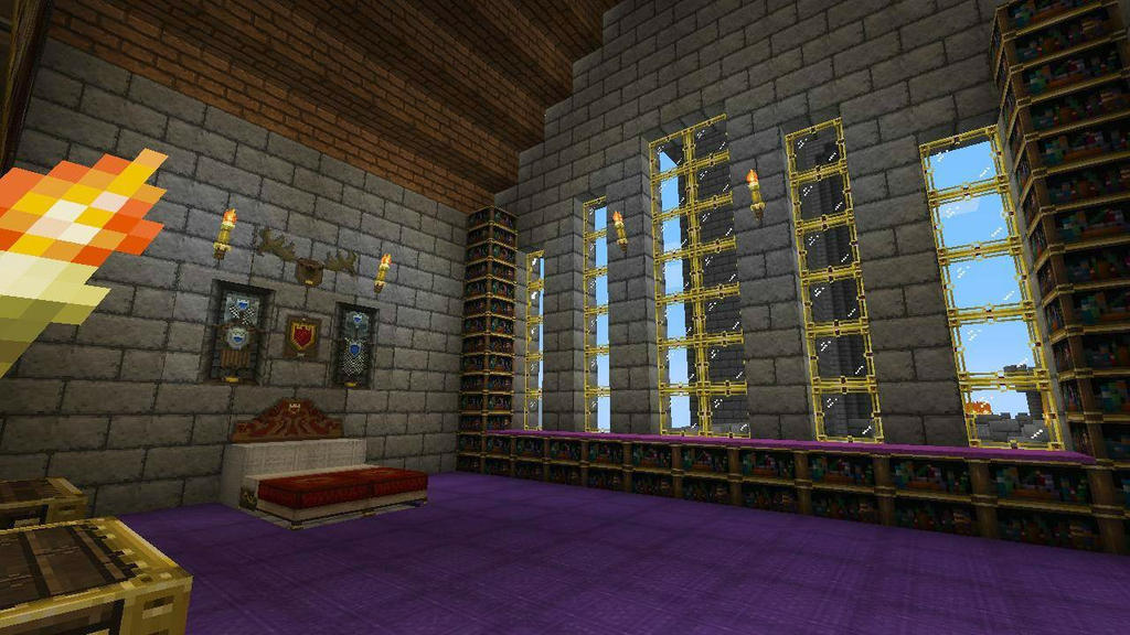 Royal bed chamber castle interior minecraft by bexrani for How to build a castle bed