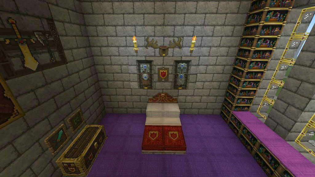 royal bed chamber castle interior minecraft by bexrani on deviantart