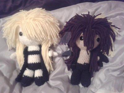 Reki And Naru Amigurumi Dolls by ZEROKIRYU91
