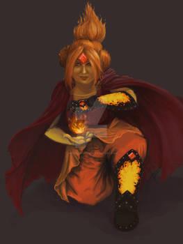 Amber as Flame Princess