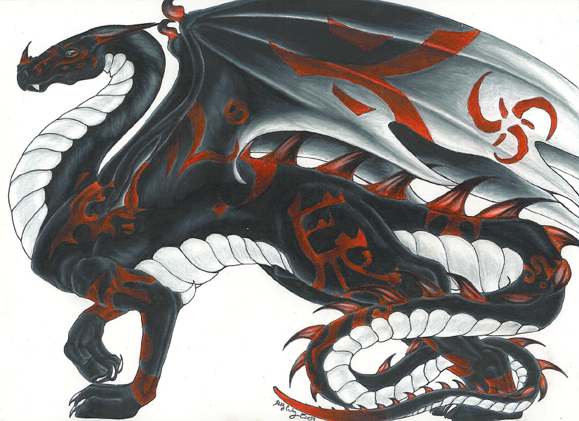 Black and red dragon by Grifforik on DeviantArt