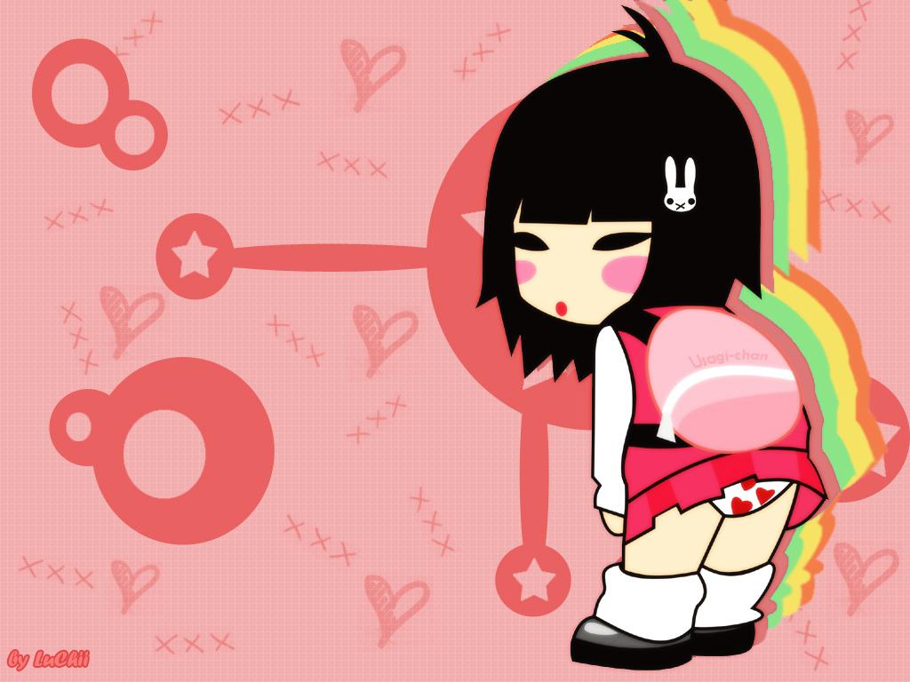 Kawaii chinese girl x3 by luchii Astonishing Kawaii Vector Digital Art Inspiration