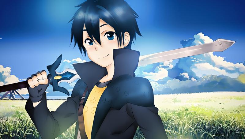 Anime Characters Using Sword : Kirito by xxajisai graphicxx on deviantart