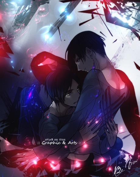 Eren feat Rivaille by XxAjisai-GraphicxX