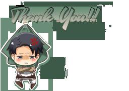 Mini Rivaille Thank by XxAjisai-GraphicxX