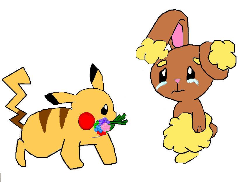 sad buneary and pikachu by sonamylove on deviantart