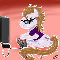 Commision - Gamer Pony by Kergul