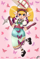 Agitha - Hyrule Warrior Style ^_^ by Kergul