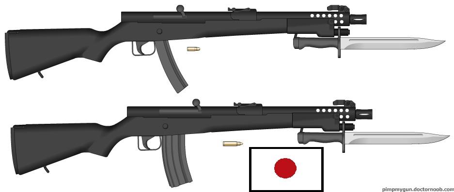 Type 20 Submachine Gun and Type 21 Assault Rifle by tylero79