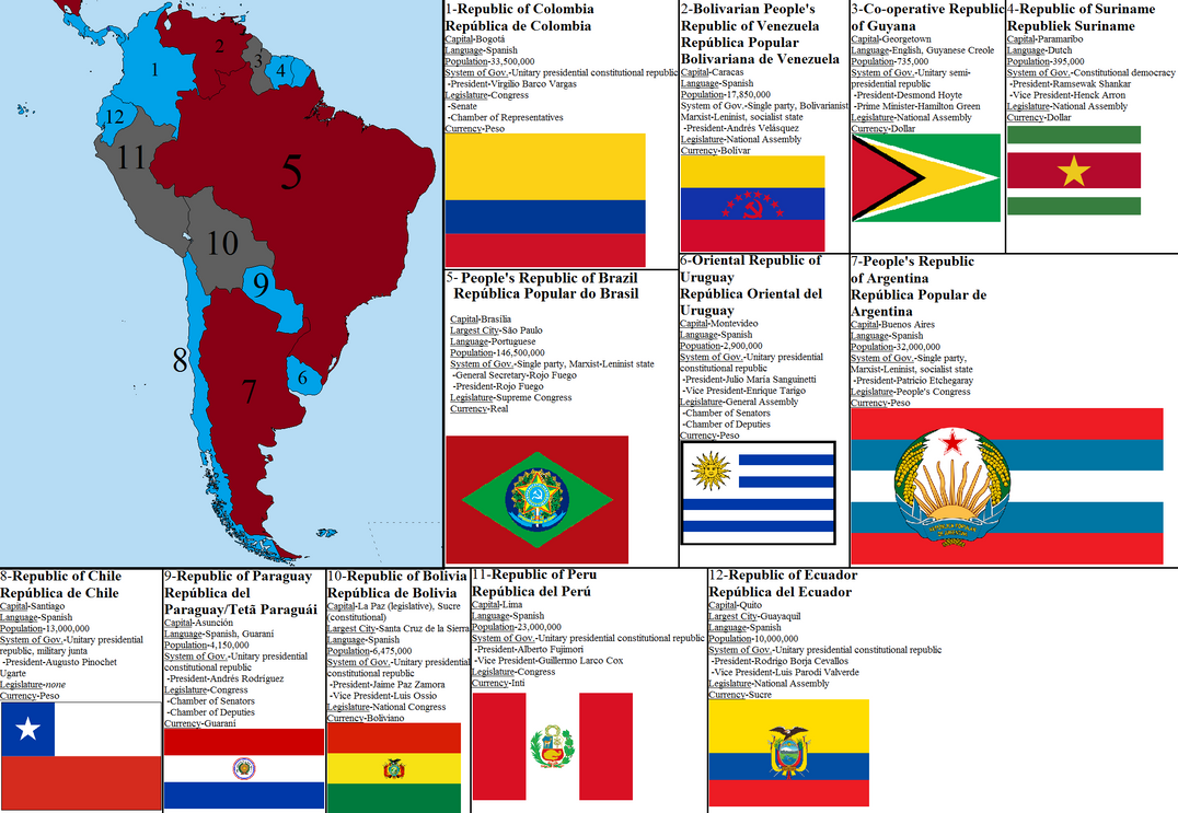 Aftermath Timeline South America Map by tylero79 on DeviantArt