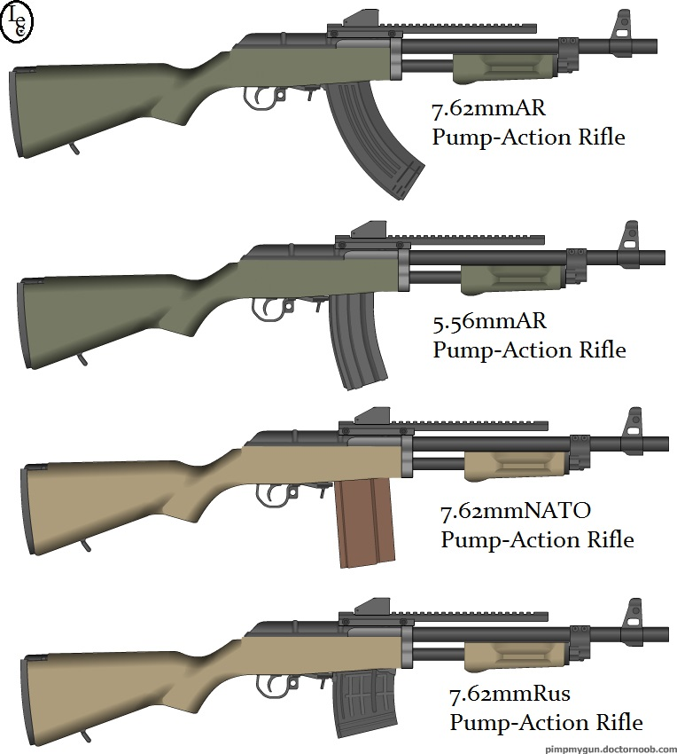 L.E.C. Pump-Action Line of Rifles by tylero79 on DeviantArt