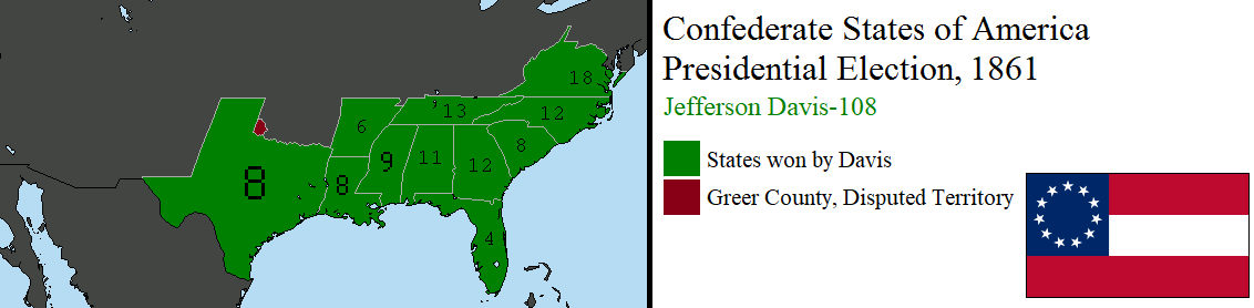 1861 Confederate Presidential Election by tylero79