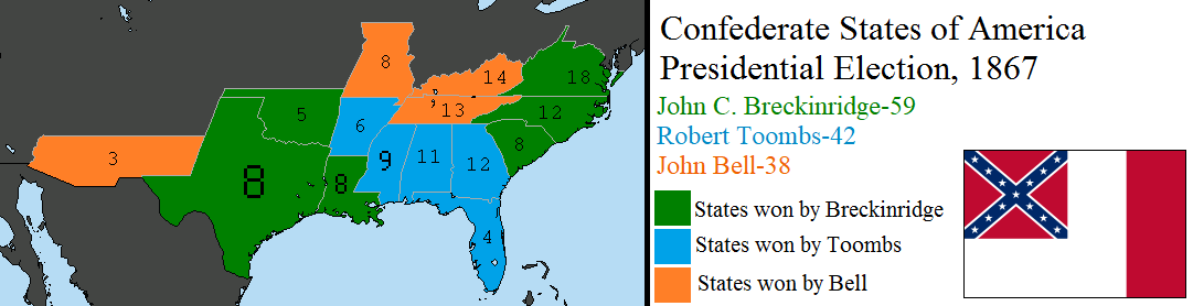 1867 Confederate Presidential Election by tylero79