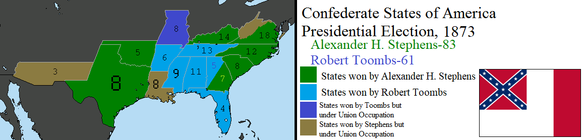1873 Confederate Presidential Election by tylero79